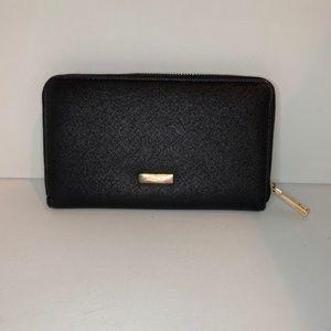 ALDO Black Zipper Wallet